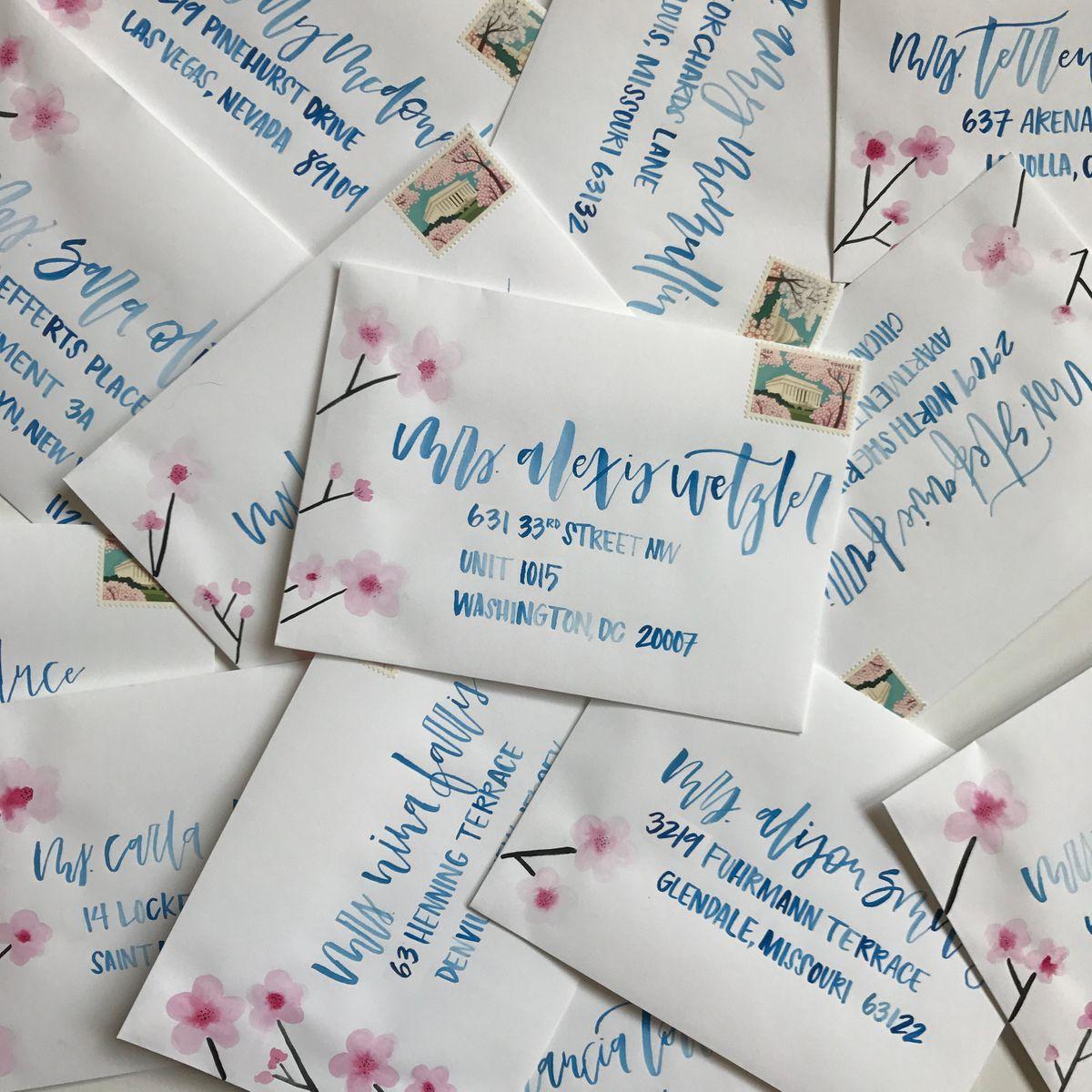 Address Block - Cherry Blossom Envelope Calligraphy.jpg