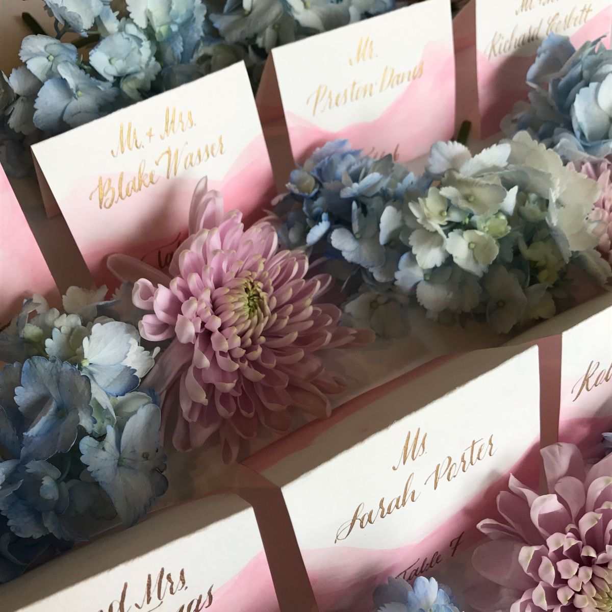 DipDye Pink and Gold Escort Cards Calligraphy copy.JPG