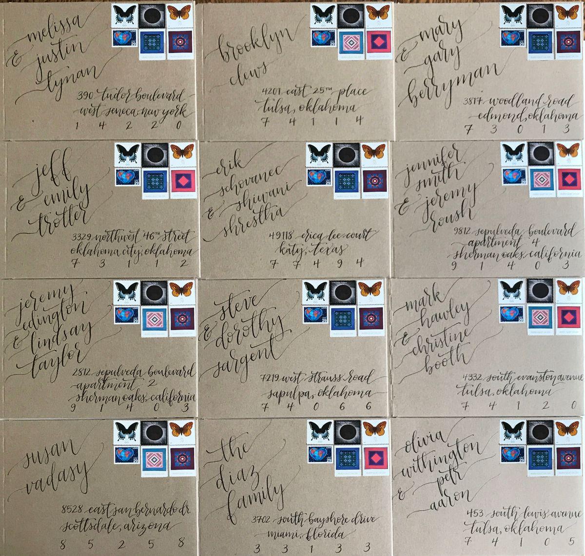 Kraft Envelopes with Stamps - Changed Addresses.jpg