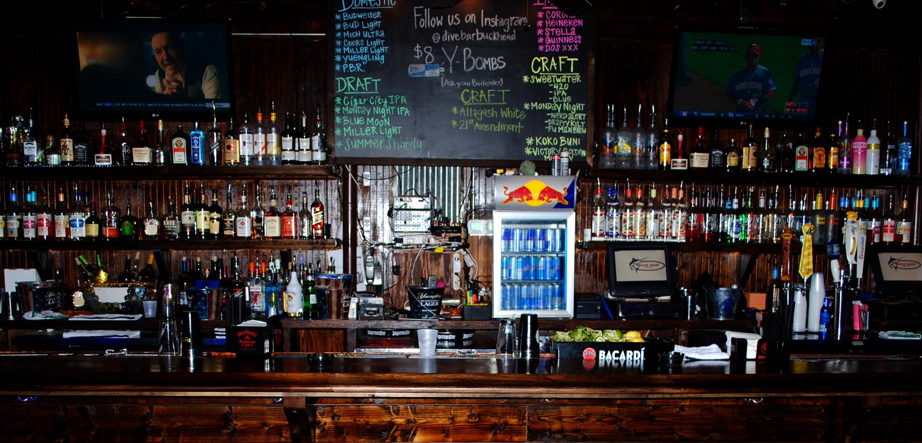 Dive bar buckhead for Bar dive