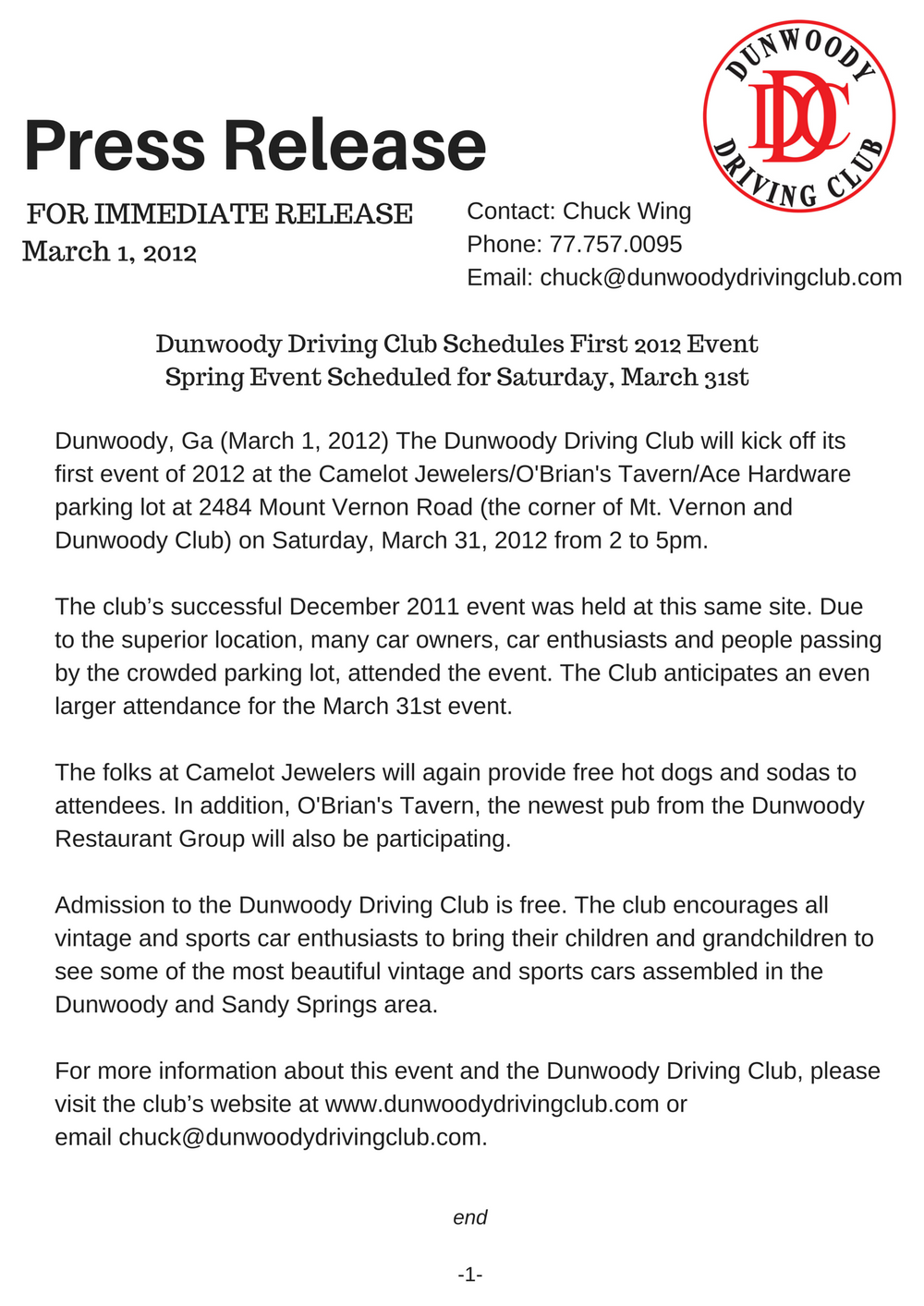 2012 Event%0ASpring Event Scheduled for Saturday, March 31st.png