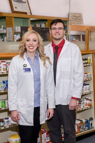 Ashley with Caney Pharmacist and Fiance Gavin Duley, PharmD Caney Drug.jpg