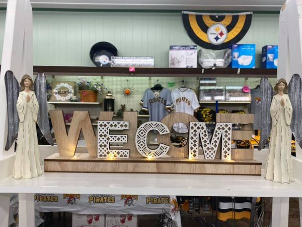 Gift Shop Welcome Sign