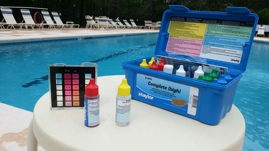 Taylor Test Kit  by pool.jpg