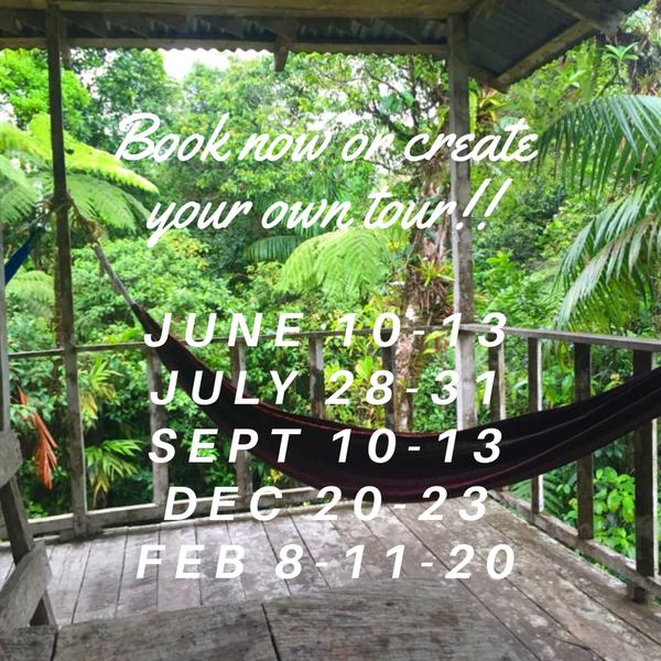Costa Rican Rainforest Tour Schedule