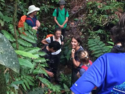 family enjoying la danta rainforest reserve in Costa Rica