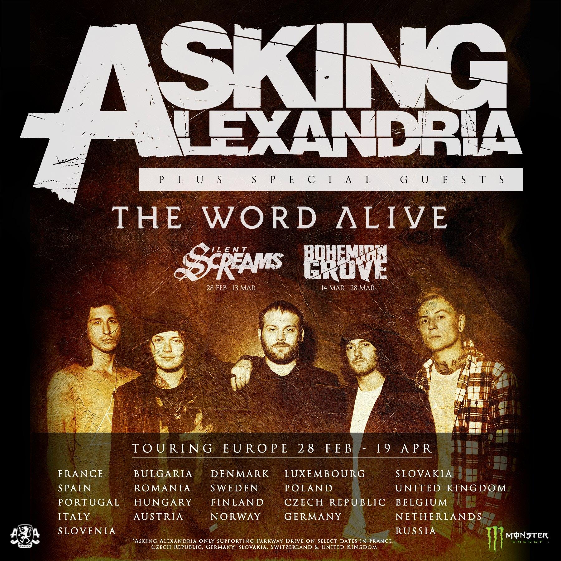 european tour 2017 29 february 19 april asking alexandria