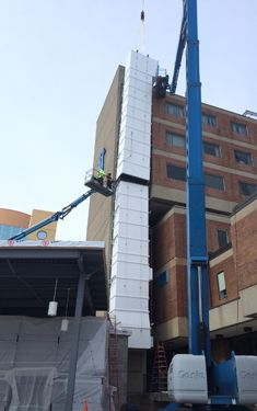exterior doublewall  preinsulated hospital ductwork