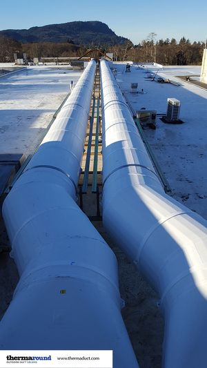 Thermaduct Outdoor Insulated Round Ductwork