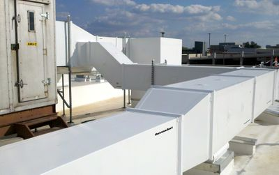 weatherproof rooftop hvac ductwork