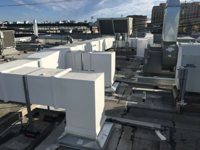 exterior rooftop ductwork hospital healthcare