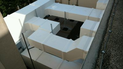 exterior rooftop ductwork for hospitals thermaduct