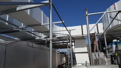 rooftop ductwork doublewall for healthcare