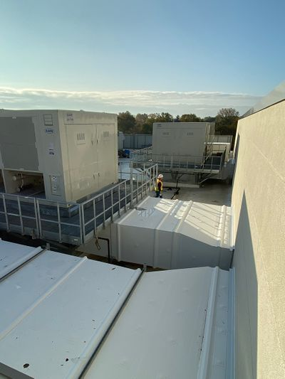 Thermaduct ductwork for school roofs