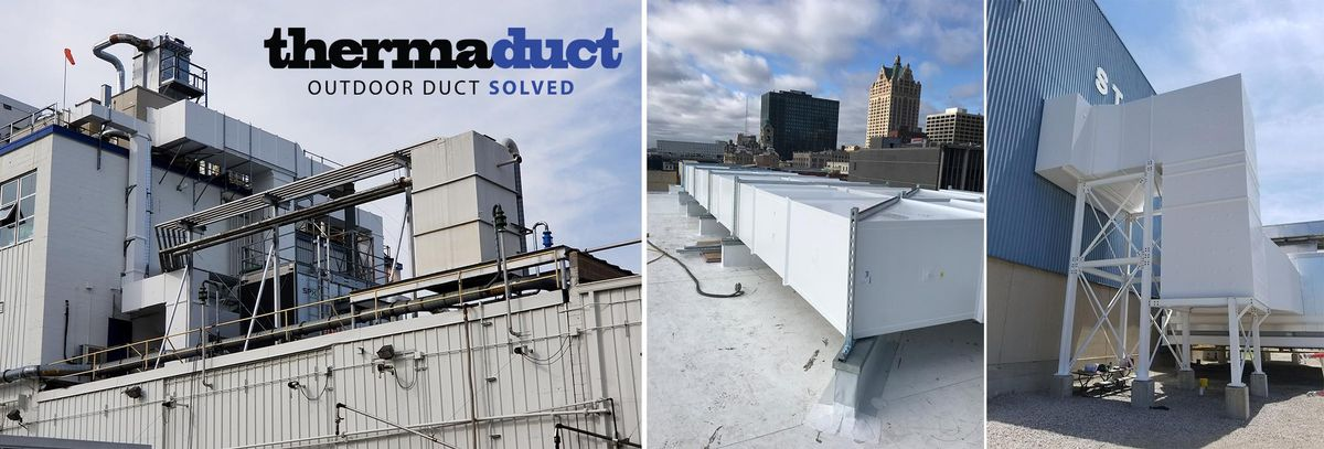 Outdoor Rooftop Ductwork Rectangular Doublewall