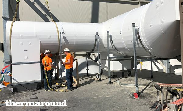Preinsulated outdoor ductwork thermaround