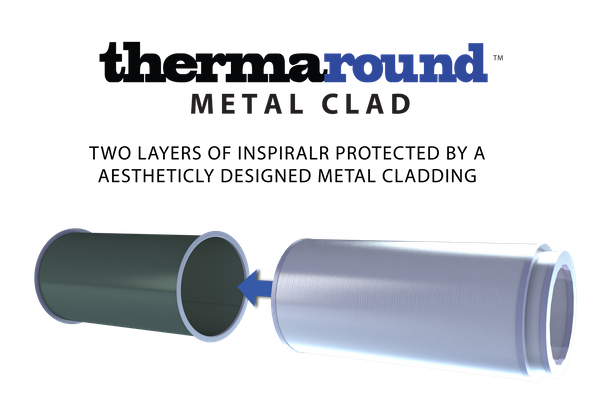 Round KoolDuct Thermaround Ductwork with Metal Cladding