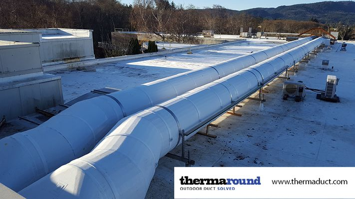 preinsulated round ductwork outdoors