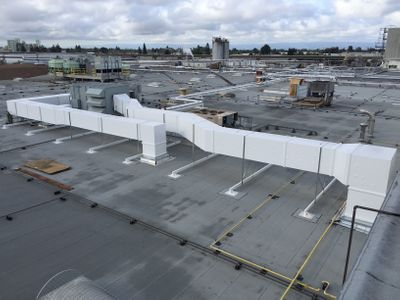 exterior outdoor ductwork food grade facility