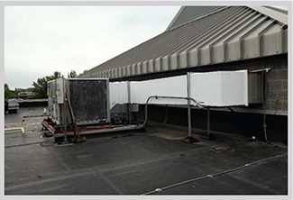 exterior double wall ductwork