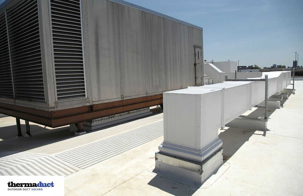 Thermaduct Duct Insulation Rectangular Rooftop Ductwork
