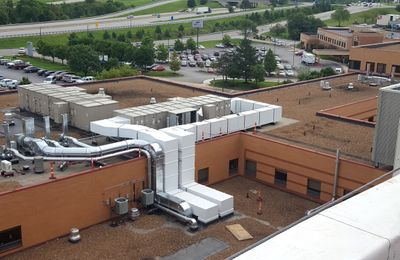 Thermaduct preinsulated outdoor ductwork for hospitals