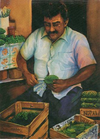El Senor Nopalero - Notecard