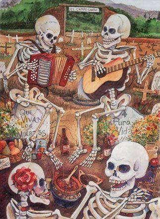Que Vivan Los Muertos - Notecard