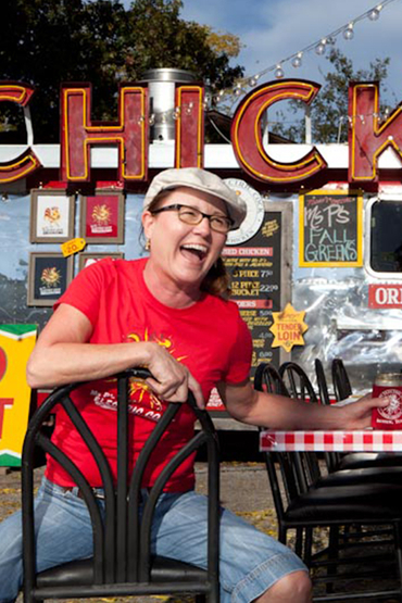 Ms P, owner of Ms P's Electric Cock, a top food trailer in Austin