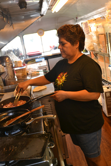 Margarita, chef at Ms P's Electric Cock food trailer in Austin