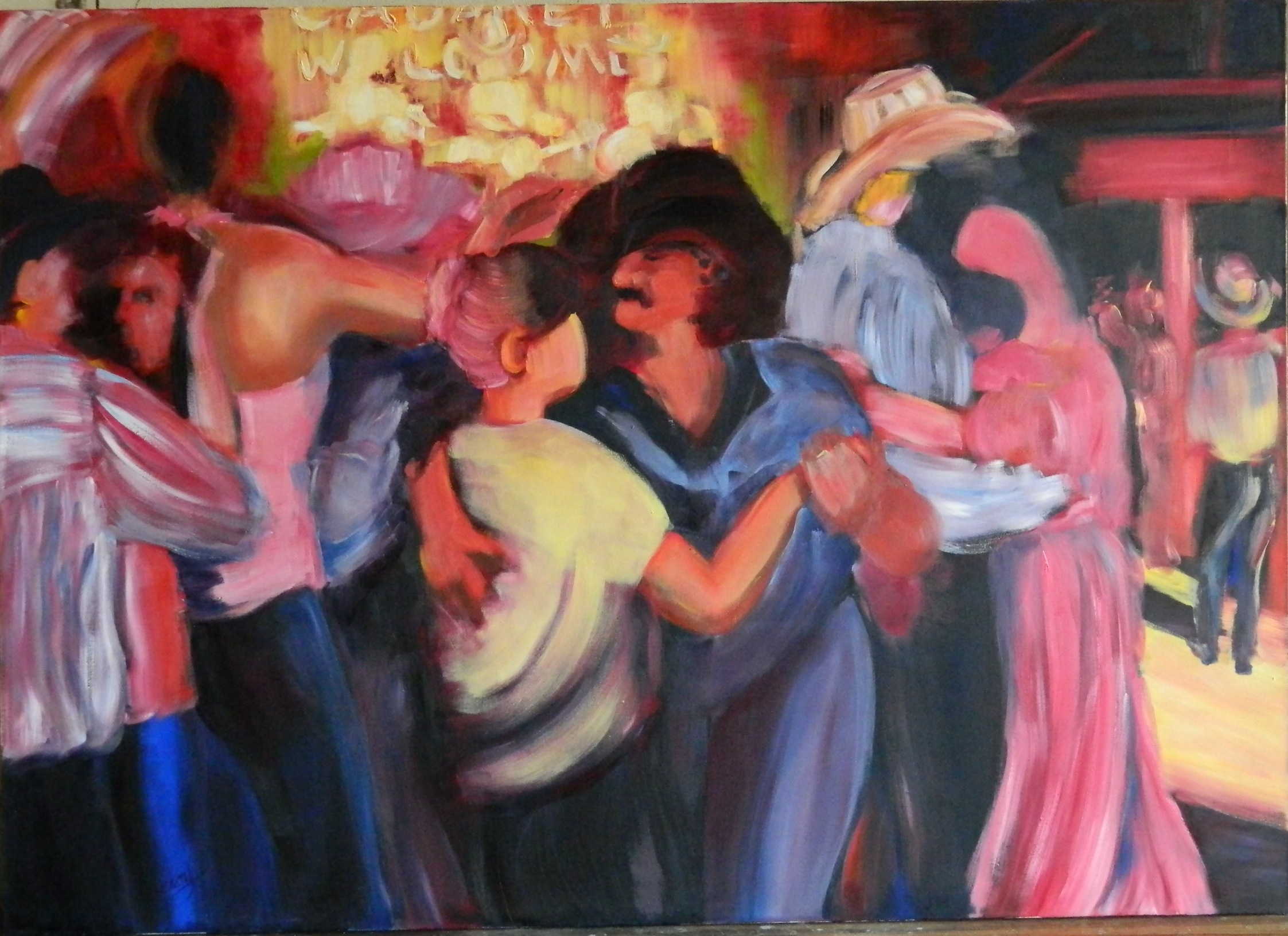 Bandera Cabaret, Cabaret Welcome, 60 x 84 in., oil on canvas, $10,000.JPG