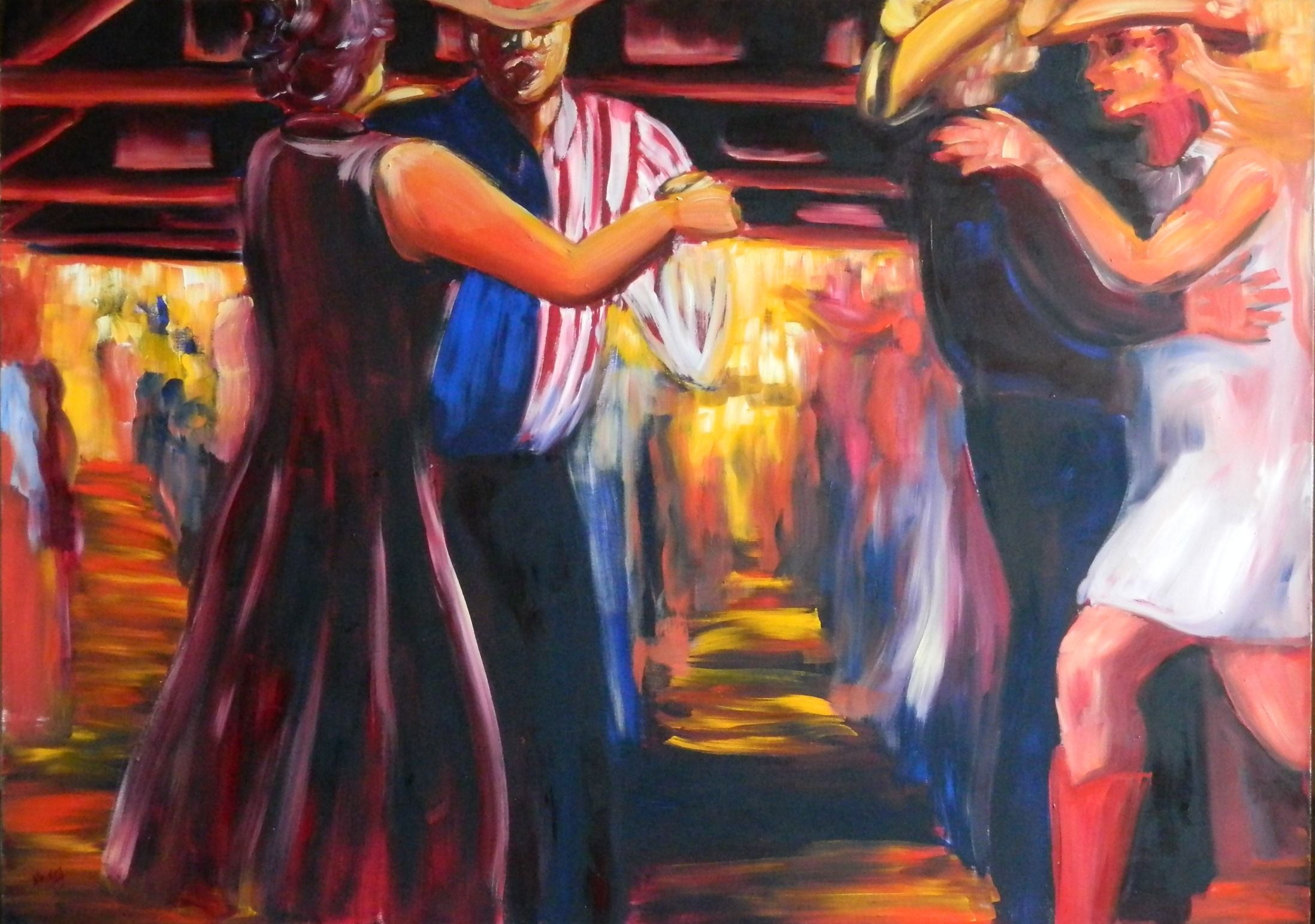 Gruene Hall, A Good Time, 60 x 84 in., oil on canvas, $10,000.JPG