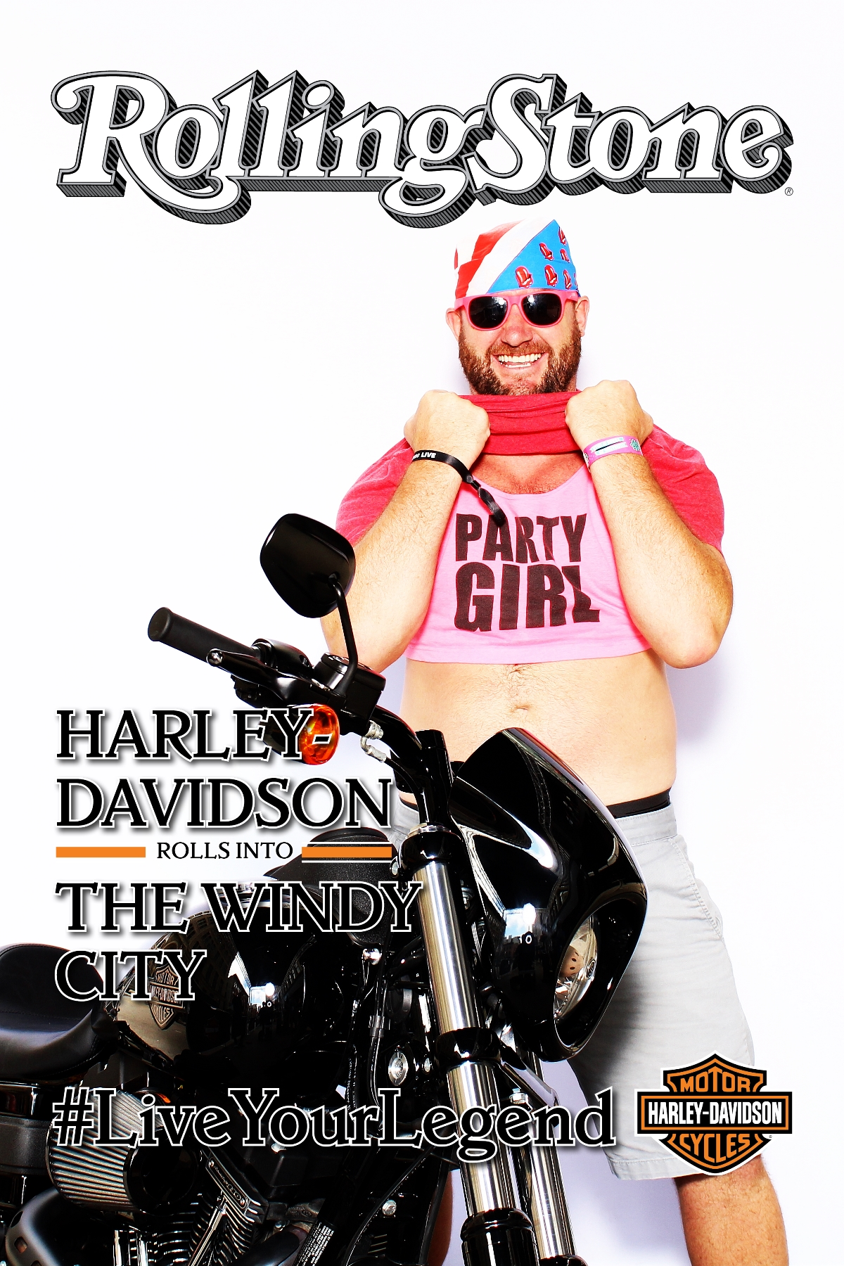 Harley Davidson and Rolling Stone Interactive Photo Booth