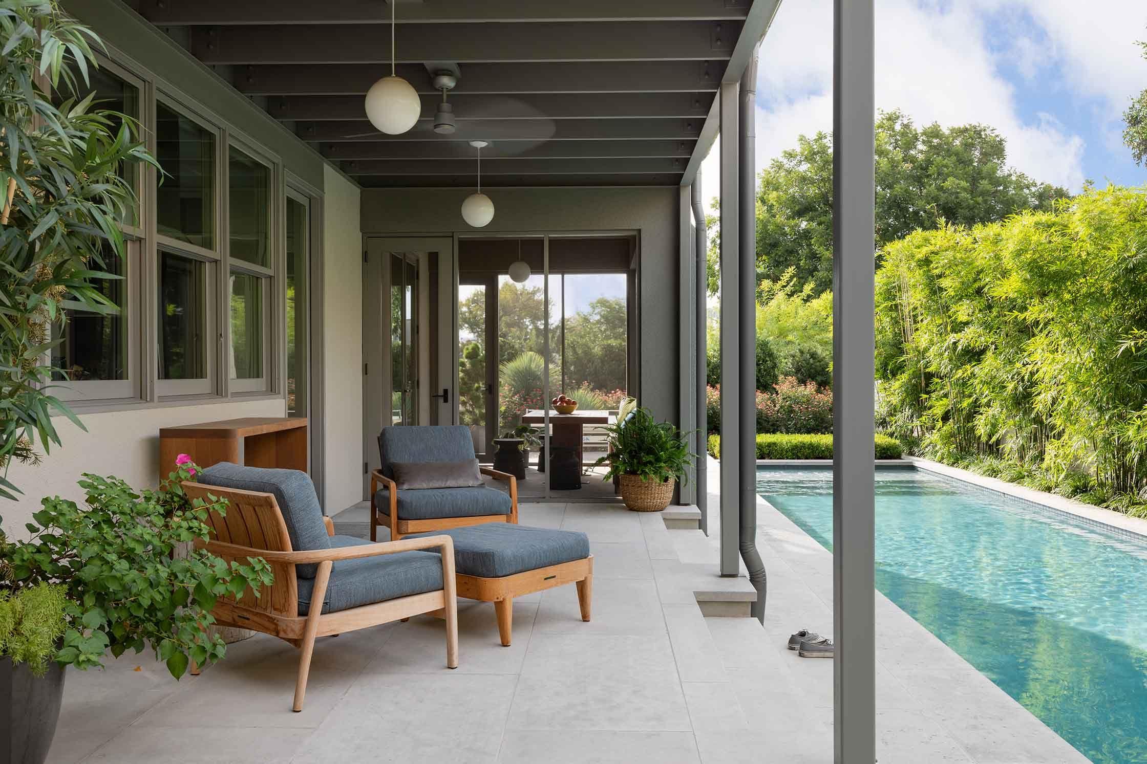 Back Porch Design in Austin Texas