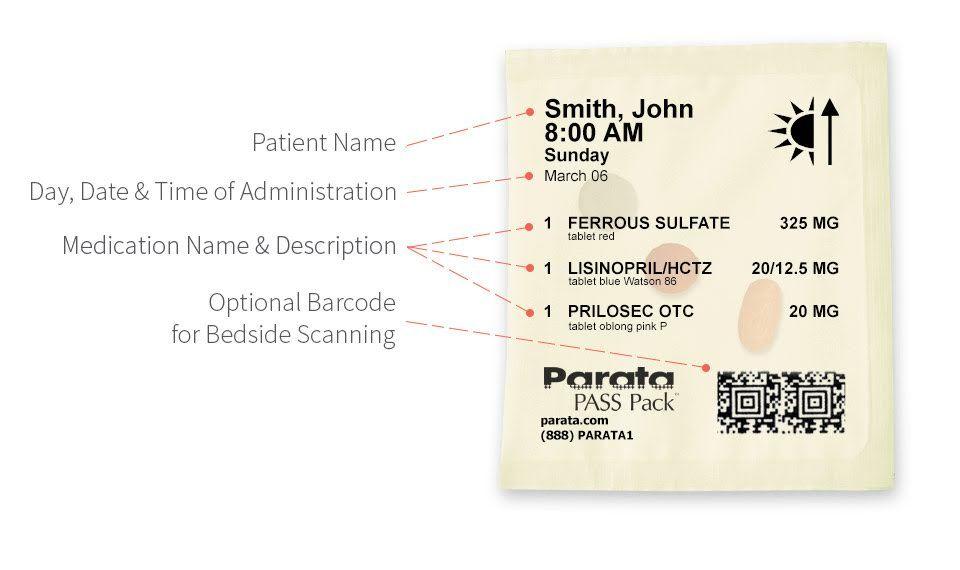 Parata Multi-dose Strip Packaging