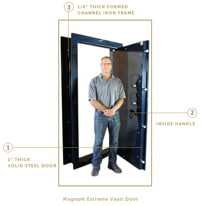 Magnum Extreme Deluxe Vault Door · magnum-extreme.jpg  sc 1 st  Smith Security Safes & Custom and Stock Vault Doors | Made in the USA - Building Vault ...