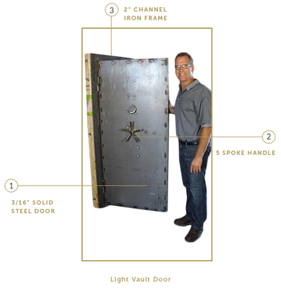 Standard Vault Door · light.jpg  sc 1 st  Smith Security Safes & Custom and Stock Vault Doors | Made in the USA - Building Vault ...