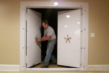 Finished Vault Door Installation Smith's Security Safe