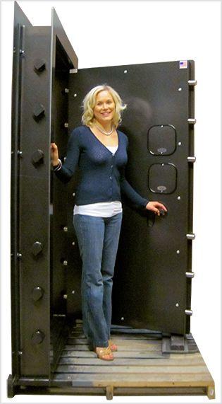One inch thick solid steel door