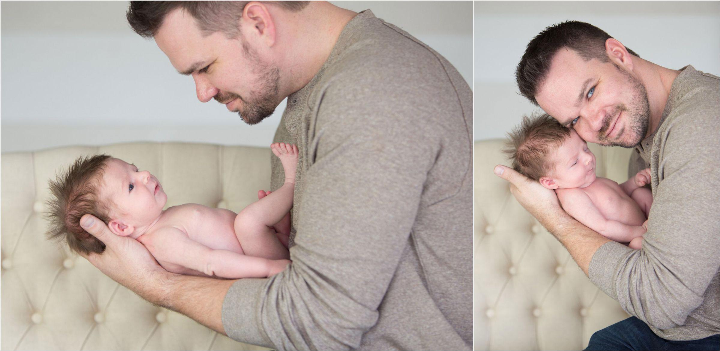 Dad-bonding-with-newborn-son-in-Denver-Highlands-studio-0004
