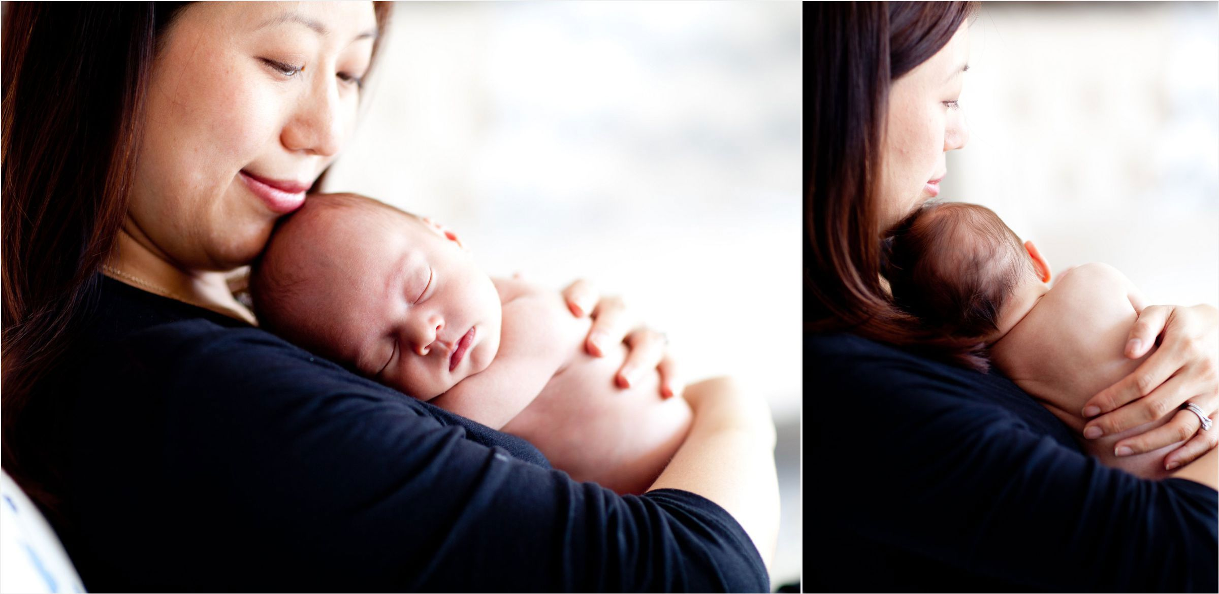 Mom-snuggles-with-newborn-in-natural-lit-Denver-studio-0003