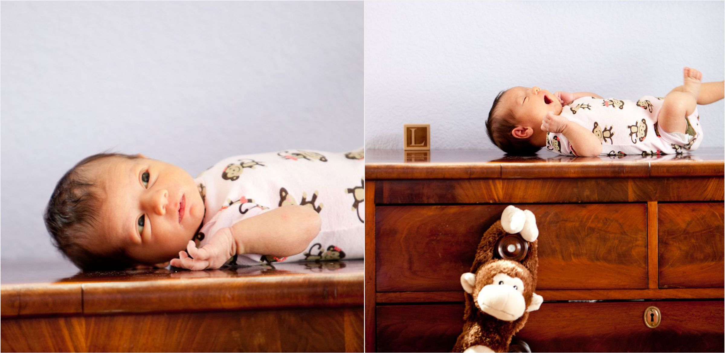 Newborn-posing-on-dresser-in-hilltop-denver-home-005