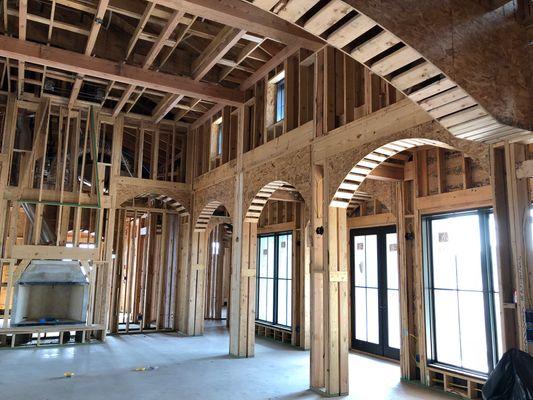 custom framing by Kirby Walls Custom Builders. kirby walls.com