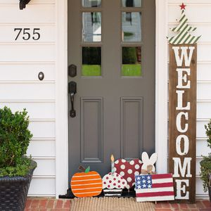 Refresh your porch with this adorable Welcome sign! We have toppers for every holiday & celebration.jpg