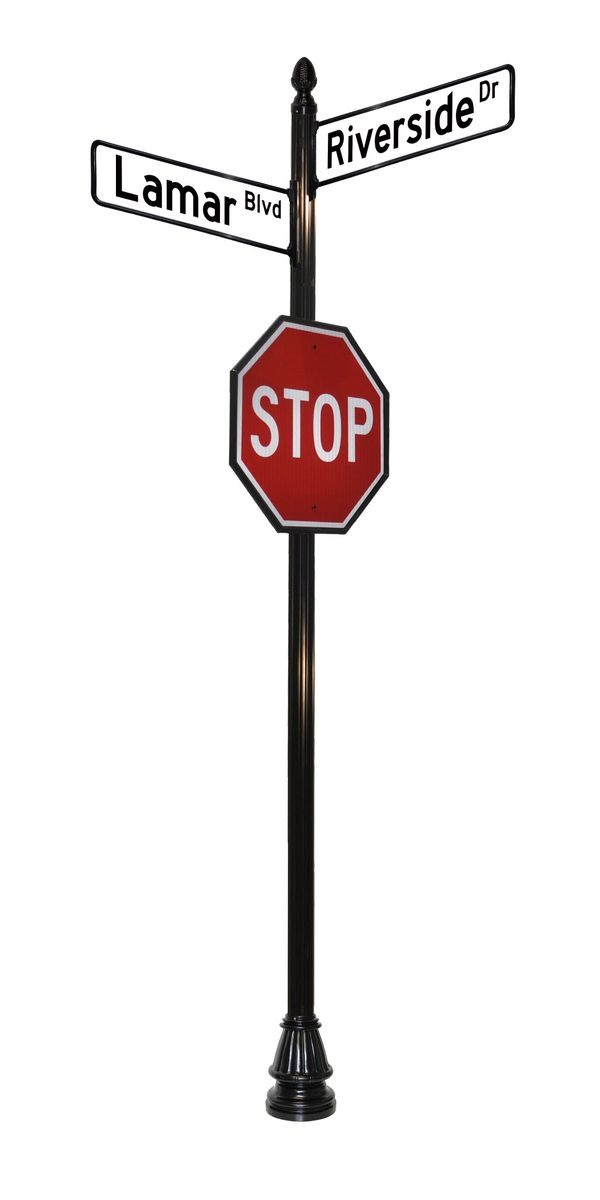 street sign frames with stop sign
