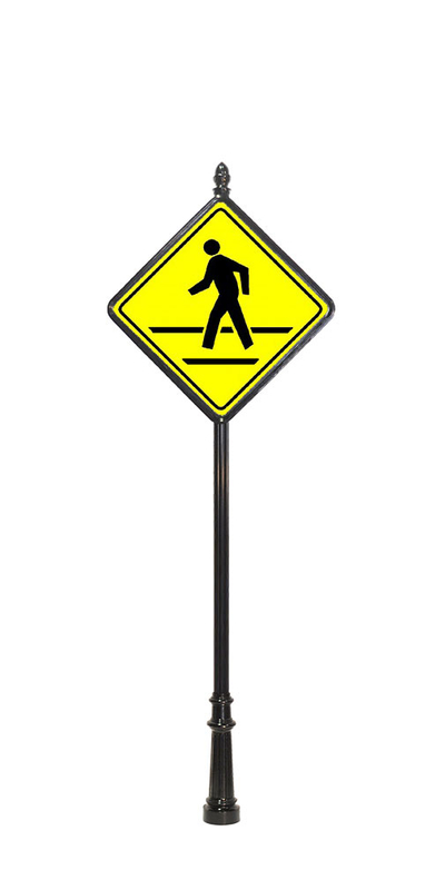 pedestrian crossing sign example