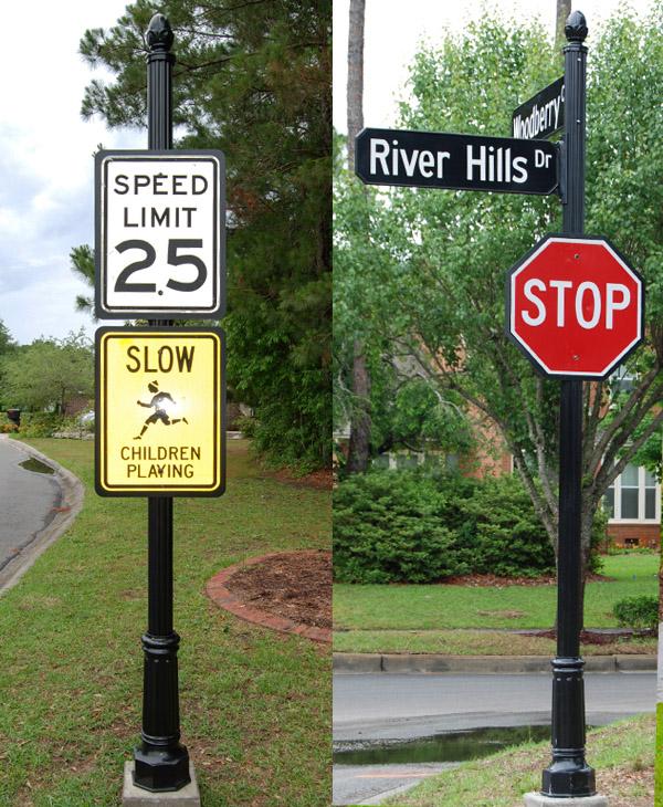 River Hills POA custom signs