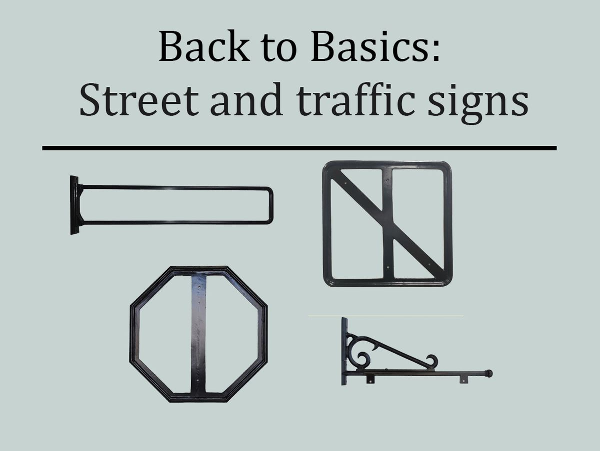 Street and traffic sign options
