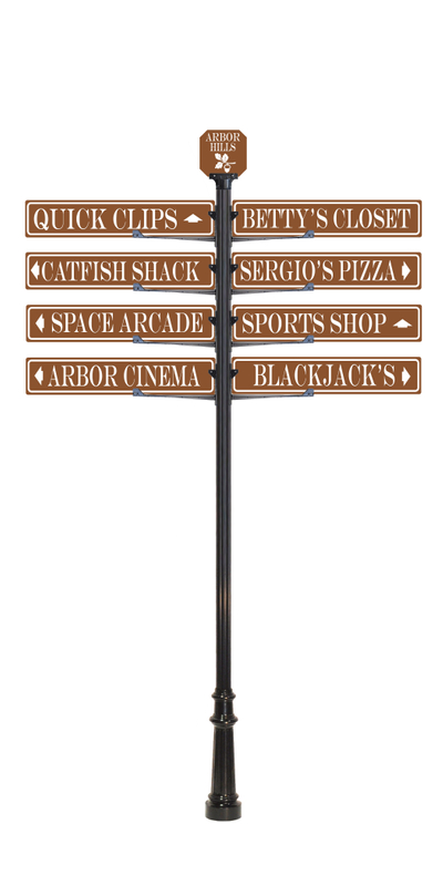 custom directional  sign pole