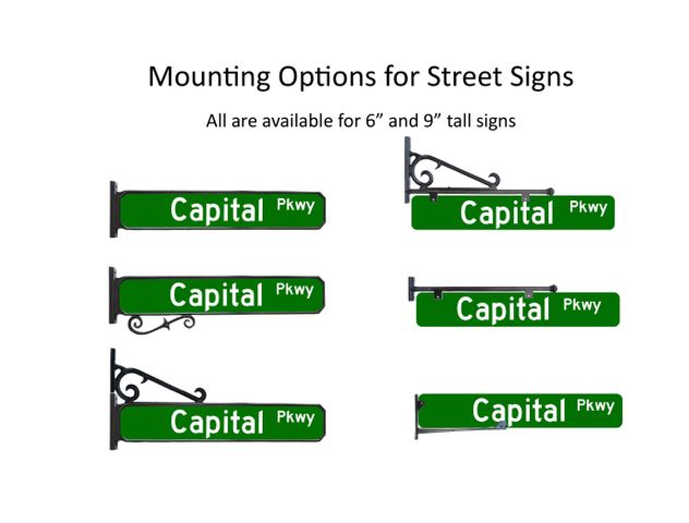 street sign mounting options
